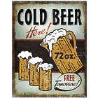 Cold Beer Heavy Metal Sign