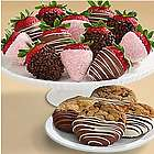 Mother's Day Chocolate Dipped Cookies and Strawberries