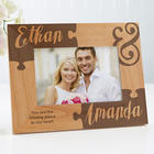 Missing Piece To My Heart Engraved Wooden Picture Frame