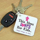 Personalized This Mom Loves Her Kids Key Chain
