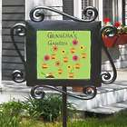 Personalized Garden Tile in Wroght Iron Stake Frame