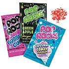 Fun Cotton Candy, Green Apple, and Bubble Gum Pop Rocks Candies