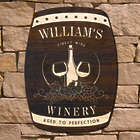 Only the Finest Personalized Wine Barrel Sign