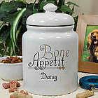 Dog's Personalized Ceramic Bone Appetit Treat Jar