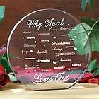 Why I Love You Engraved Clear Disc