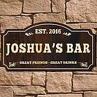 Classic Bar Personalized Wood Sign