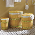Set of 3 Oval Laundry Baskets