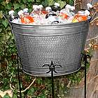 Hammered Tin Beverage Tub