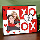 Personalized XOXO and Hearts Printed Frame