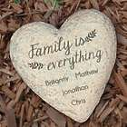 Personalized Family is Everything Heart Garden Stone