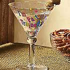 I'm Party Trained Martini Glass