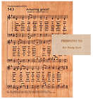 Personalized Etched Wood Amazing Grace Hymn Plaque