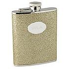 Personalized Gold Glitter Flask