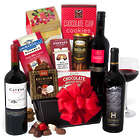 Christmas Wine and Snacks Gift Basket