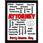 Attorney or Lawyer Expressions Personalized Plaque