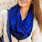 Blue Totonicapan Diamonds Cotton Scarf