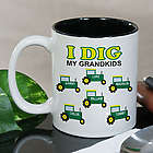 Personalized I Dig My Kids Tractor Coffee Mug