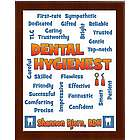 Dental Hygienist Expressions Personalized Plaque