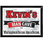 Official Man Cave Personalized Sign