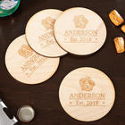 4 Wax Seal Handcrafted Drink Coasters