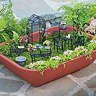 Double Walled Self Watering Herb Garden Planter with Fairy Garden