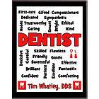 Dentist Expressions Personalized Plaque