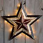 Medium Lighted Americana Metal Star