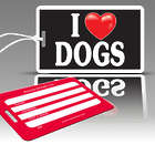 I Heart Dogs Luggage Tag Set