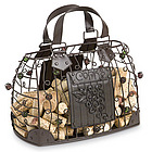 Wrought Iron Handbag Wine Cork Art Cage