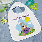 Some Bunny Loves Him Baby Bib