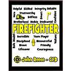 Firefighter Expressions Personalized Plaque
