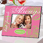 Personalized Always Friends Floral Photo Frames