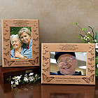 Personalized Butterfly Sympathy Wooden Picture Frame
