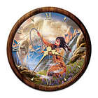 Native American Inspired Stained Glass Wall Clock
