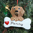 Personalized Golden Retriever with Bone Ornament