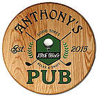 Personalized 19th Hole Barrel Sign