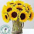 Sunflower Bouquet in Wicker Glass Vase