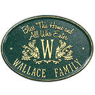 Bless Our Home Personalized Aluminum Plaque