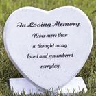In Loving Memory Garden Heart Memorial