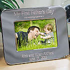 5x7 Engraved First Fathers Day Silver Picture Frame
