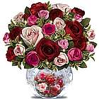 Today, Tomorrow, Always Floral Bouquet Crystal Centerpiece