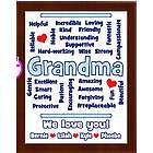Personalized Grandma Expressions Plaque
