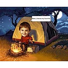 Camping Out Personalized Caricature