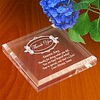 Personalized Thank You Keepsake & Paperweight