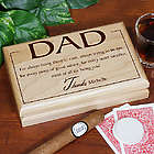 Personalized Thanks Dad Valet Box