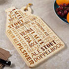 Brew Talk Engraved Cutting Board