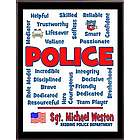 Police Expressions Personalized Plaque