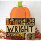 Personalized Fall Fun Pumpkin Tabletop Decor