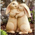 Loving Snuggle Bunnies Garden Statue