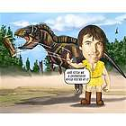 Dinosaur Trainer Caricature Print from Photo